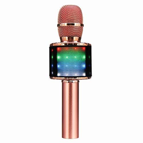 Gyubay Micrófono inalámbrico de Karaoke El Canto Bluetooth Wireless Handheld Profesional del...