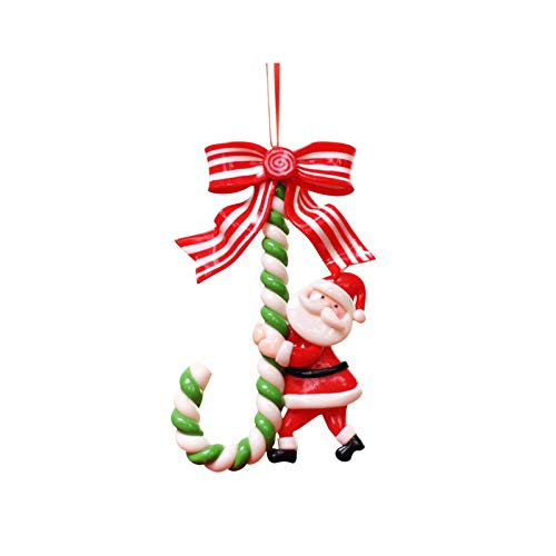 Christmas Ornament Ceramic Santa Claus Snowman Candy Cane Christmas Tree Hanging Ornaments for Holiday Party Decoration Favors