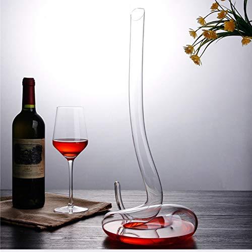 Loodvrije slang vorm kristallen rode wijn karaf, handgemaakte wijn glazen fles, helder gestroomlijnd ontwerp, geschikt voor karaf Bar en thuis.