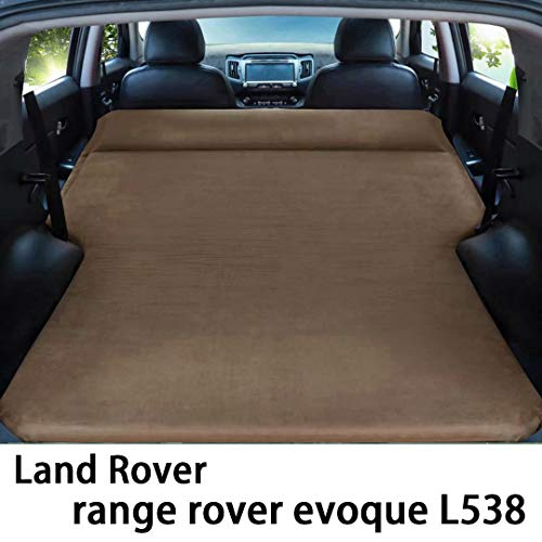QCCQC Suitable for Land Rover range rover evoque L538 Car automatic inflatable bed foldable trunk travel air cushion bed air Mattress,Brown,T2