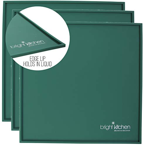 """Set of 3-14"""" x 14″ Silicone Sheets for Excalibur Dehydrator Bright Kitchen Re-Usable Non-Stick Mat (3 Edge Sheets)"""
