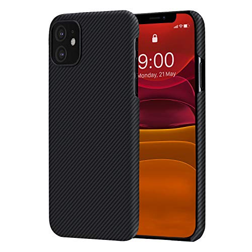 PITAKA Ultra Slim Case Compatible with iPhone 11 6.1'' Air Case Selected 600D Premium Aramid Fiber Ultra Slim Ultra Light Skin Carbon Style Minimalist Simple Design Cover