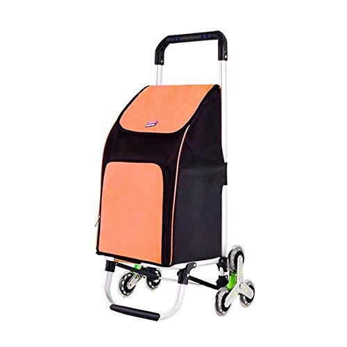DEED Carritos de Compras Multifunción, Almacenamiento de Cocina Carro de Escalada Carro Portátil Pequeño Remolque Extensible Estante para Niños Al Aire Libre Ayuda para Caminar Carros de Utilidad
