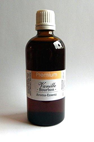 100 ml Vanille BOURBON Aroma Essenz konzentriert und ergiebig. OHNE ALKOHOL, ohne Zucker und ohne Süßstoff, vegan !! Jetzt in Braunglas-TROPFERFLASCHE !! Deutsches Produkt! STATT € 16,90 jetzt