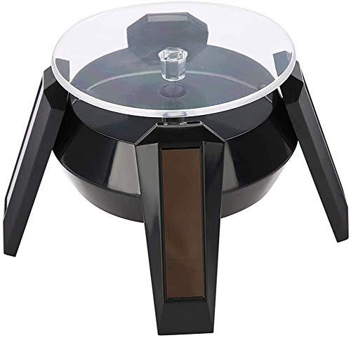 GEREP LED,Base giratoria eléctrica 3,54 pulgadas,Plataforma Rotatoria solar, utilizado para relojes, teléfonos, anillos de joyería / # 1