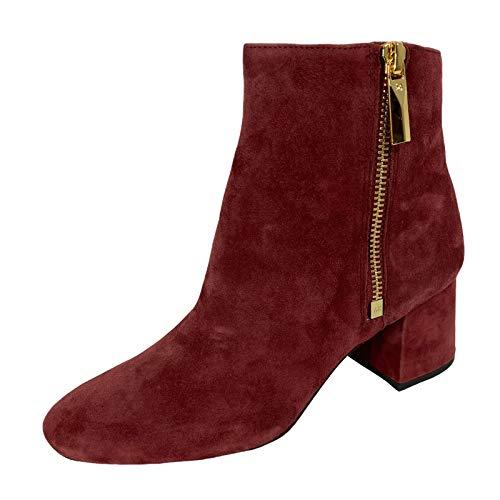 Michael Kors D22 Tronchetto Donna Bordeaux Suede Boots Women [35]