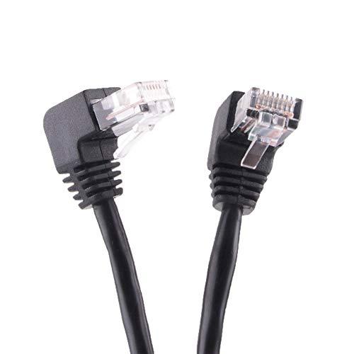 Câble Ethernet Cat5e UTP coudé à 90 degrés 4PR - Adaptateur LAN extra long - 300 cm - 4PR 24 AWG