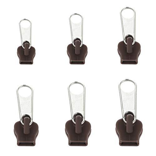 rongweiwang 6 Pezzi Universale istantaneo Fix Zipper Kit di Riparazione Universale correzione Cerniera di Ricambio Zip Slider Denti Cerniere