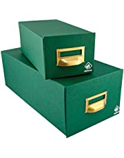 Mariola 5-500 - Fichero cartón forrado 250 x 190 x 250 mm, color verde