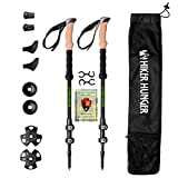 Hiker Hunger 100% Carbon Fiber Trekking Pole 2.0 Ultralight Weight, Collapsible, Metal Screw Flip...