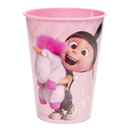 Familienkalender Becher mit Agnes, kompatibel zu Disney Minions Becher für Kinder 250ml Mikrowellenfest | Kinder | Mädchen | Jungen | Geschenk | BPA-frei | Einhorn | 1 Becher