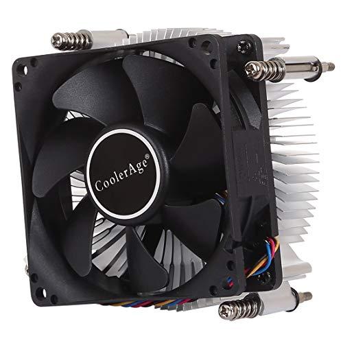 LENASH 4pin CPU Cooler Mute Silent Silent Fin de disipador de Calor de Aluminio Espesado para Intel 1155/1150/1151