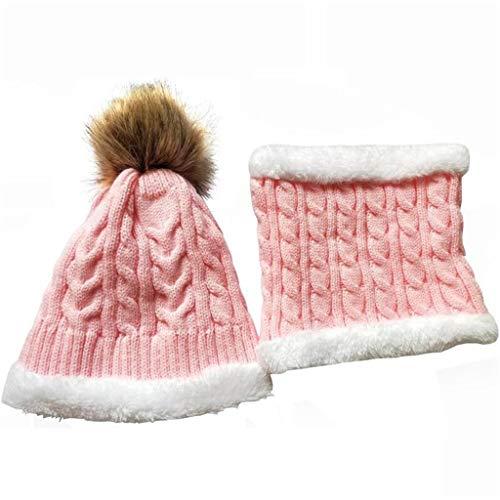 JFTMY Sistema de Sombrero de bebé de Invierno Peluche cálido bebé Gorra Bufanda Sombrero Infantil Sombreros para bebés niñas niñas niños Gorra Bufanda-Collares Mujeres Hombres Gorras