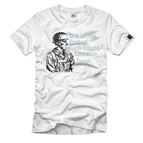 Narvik, Rotterdam, Korinth Fallschimjäger-Lied en het hete Kreta T-shirt # 33433