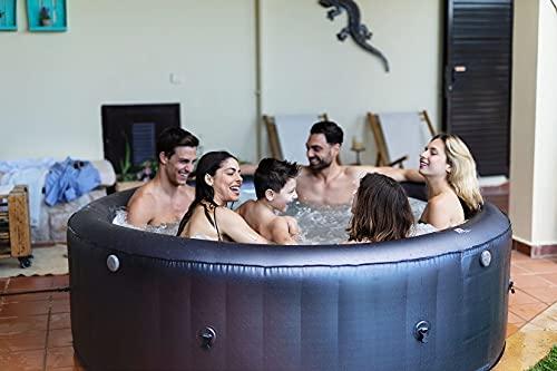 XXL Whirlpool MSPA Muse Carlton aufblasbar Indoor Outdoor Pool 6 Pers. 2021 Massage
