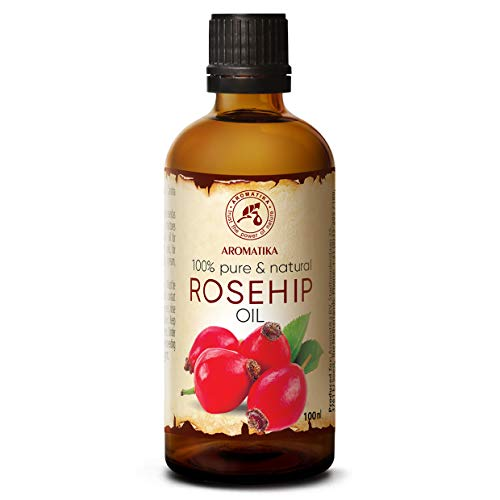 Huile de Rose Musquée 100ml - Rosa Canina Fruit - Chili - 100% Pur et Naturel - Huile de Base - Soins du Corps - Bouteille en Verre - Rosehip Oil