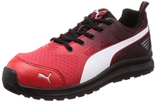 [プーマセーフティー] 安全靴 作業靴 マラソン ロー JSAA A種認定 先芯合成樹脂 衝撃吸収 静電 靴幅4E ジャパンモデル メンズ レッド 25.5cm