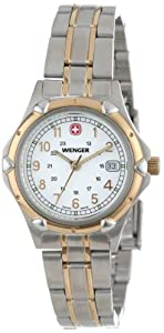 f866fc4af8a 1 Wenger Women s 70609 Standard Issue White Dial Two Tone Bracelet ...