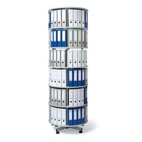 Ordner-Drehsäule 6 Etagen bis zu 216 Ordner, 1000mm Durchmesser
