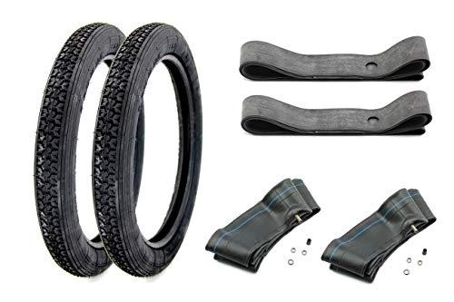 Preisvergleich Produktbild SET: 2 Reifen + Schläuche + Felgenband - VRM 416-2, 75x16 für Simson S51 S50