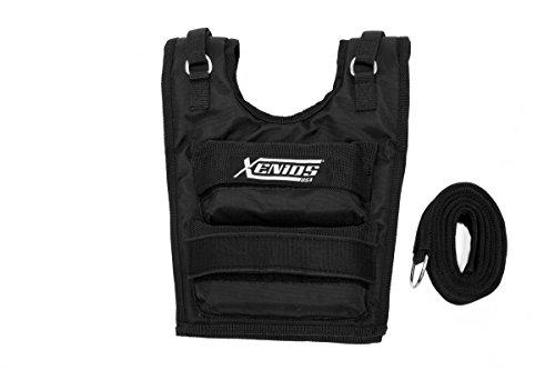 Xenios USA verstellbare Kurz-gewichtsweste aus Nylon Maximal 36 Lbs (16 kg), VSWGSVT01