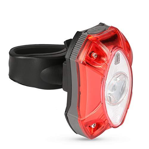Broadroot Luz de Cola para Bicicleta Luz Trasera de Advertencia de Seguridad de la lámpara LED de Bicicleta Trasera con luz Trasera USB