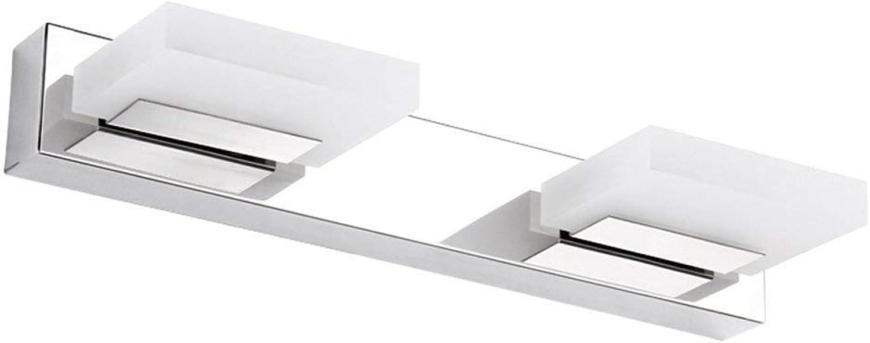 Acryl LED Edelstahl Spiegel Vorderen Leuchte Make-up-Tabelle Badezimmer Spiegelschrank Lampen Wasserdicht (Farbe  Warmes, weies Licht-2 Scheinwerfer)