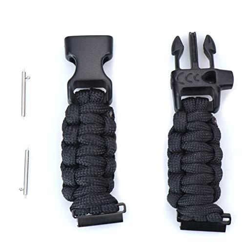Camisin - Reloj universal aplicable a varios adaptadores para paraguas con correa tejida y accesorios de 2,2 cm