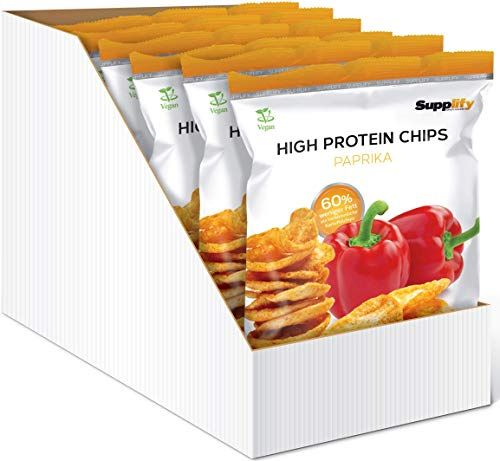 Supplify Protein Chips - Eiweiß Fitness Snack Mix Box, Whey Proteinpulver und Protein Riegel, ideal...