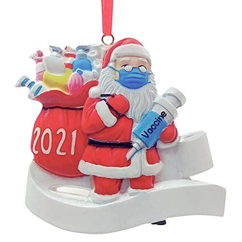 Maril Addobbi per L'Albero di Natale Ciondolo Babbo Natale Pupazzi di Neve in Resina Anti-epidemia Che Indossano Maschere I Sopravvissuti di Natale Fanno Regali agli Anziani Ciondoli di Steadfast