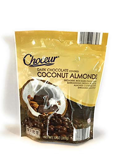 Choceur Dark Chocolate Covered Coconut Almonds 10 Oz