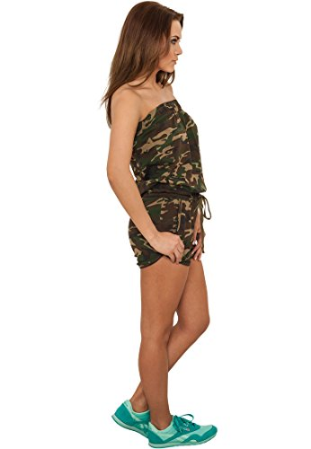 Urban Classics Ladies Camo Hot Jumpsuit TB735; Farbe:wood camo-00396 - 4