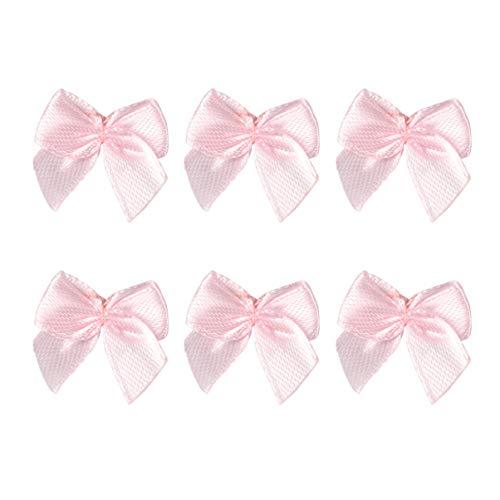 Vosarea 60pcs fiocchi di natale fiocchi di albero di natale fiocchi regalo di natale fatti a mano fiocchi capelli accessori fiocchi rosa