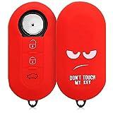 kwmobile Funda Compatible con Llave Plegable de 3 Botones para Coche Fiat Lancia - Carcasa Protectora Suave de Silicona - Don't Touch my Key
