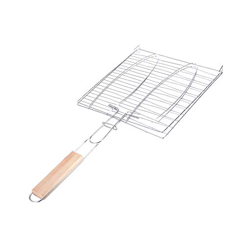 GOODTRADE8 BBQ Grill Net,Barbecue Tools BBQ Grill Net Household Barbecue Net Clip Grilled Fish Clip, for Shrimp, Vegetable, Hamburger - Dishwasher Safe and Cleans Easily(8×15 inch)