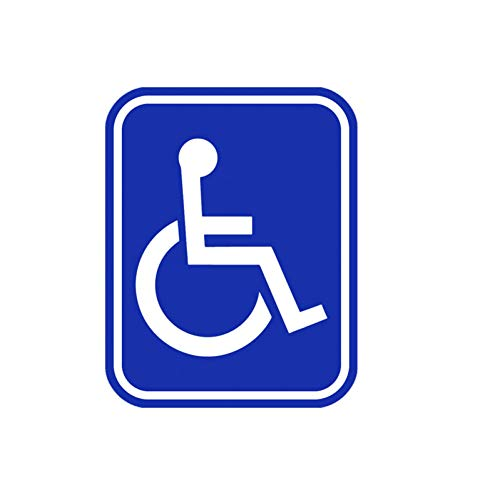 KHJGF Aufkleber 11,9 cm * 15,2 cm Handicap Symbol PVC Rollstuhl Behinderte Fenster Auto Aufkleber