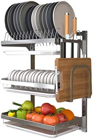 Wall mounted dish drainer