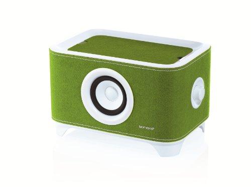 Sonoro Troy, mobiler Lautsprecher und Ladestation, weiß/grün