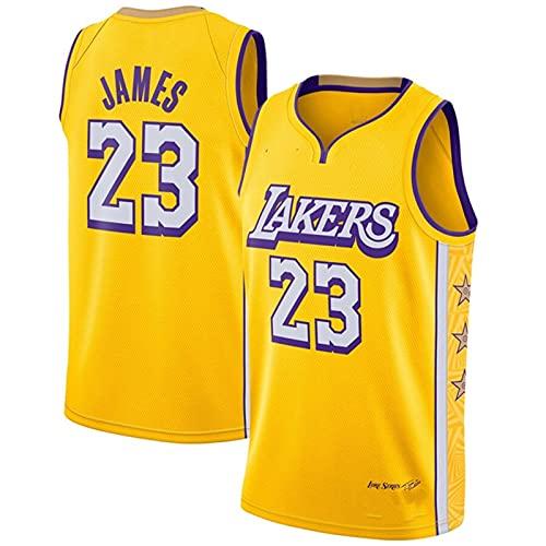GFQTTY Lebron James # 23 - Camiseta NBA Lakers City Edition para Hombre, Camiseta De Baloncesto para Adultos, Camiseta Bordada Transpirable Resistente Al Desgaste para Hombre