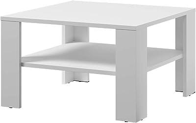 Selsey Crozier - Table Basse/Table de café - 68x68 cm, Blanc - Style scandinave
