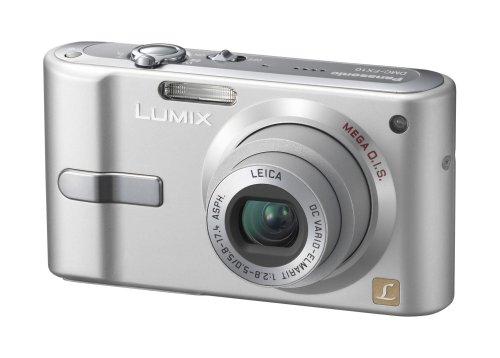 Panasonic DMC-FX10 EG-S Digitalkamera (6 Megapixel, 3-fach opt. Zoom, 6,4 cm (2,5 Zoll) Bildschirm, Bildstabilisator) silber