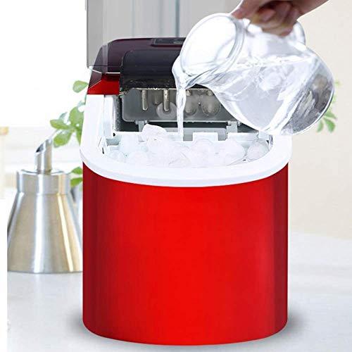SHKUU Máquina Hacer Hielo 15 kg/ 24 H portátil, automática eléctrica Forma Cuadrada, máquina para fabricar Cubitos Hielo, Barra, café, té, Tienda Leche