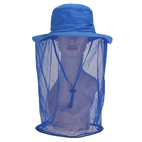 GFYWZ All'aperto Anti-Zanzara Cappello Maschera con Testa Netta Mesh Face Protezione per Pesca Apicoltura Giardinaggio (Uomini Donne),03