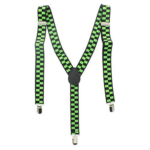 Zac's Alter Ego® Bretelles réglables pour homme/femme Motif carreaux Largeur 25 mm - Multicolore -