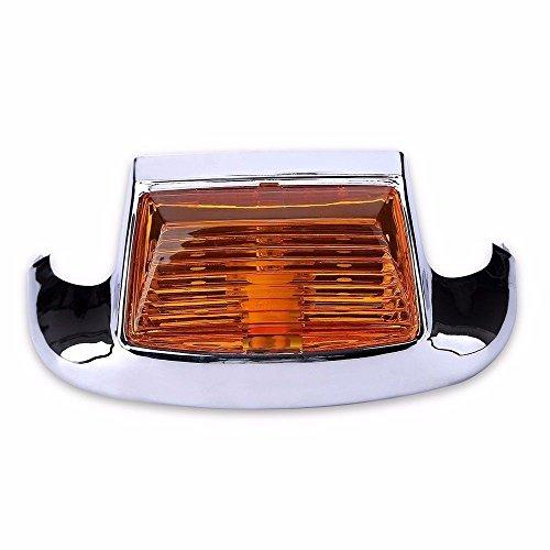Moto arrière Fender Tip auxiliaire lumière Ambre pour Harley Flht Flhs Electra Glide