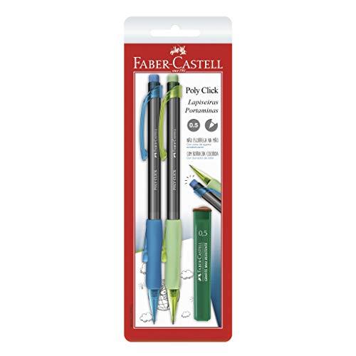 Lapiseira Poly Click 0.5mm, Faber-Castell, SM/05CLICKAV, Azul/Verde