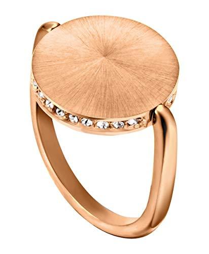 Esprit ESRG00022218 Damen Ring Sunset Sparkle Edelstahl Rose Weiß Zirkonia 18,1 mm Größe 57