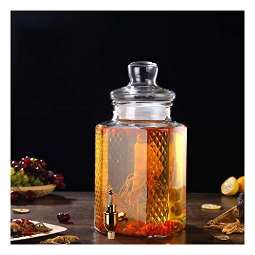 Dranken dispenser mousserende wijn glas fles met kraan pot speciale mousserende wijnfles verzegeld Soaking Tank verdikking XINYALAMP
