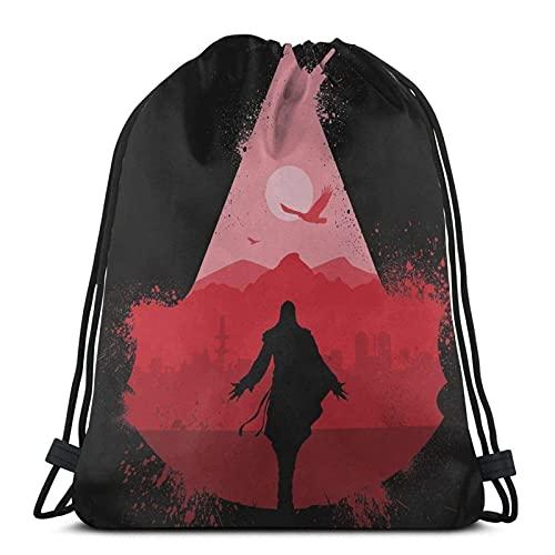 WY-GF Drawstring Bags Assasin'S Eye T-Shirt Rework Sport Bag Gym Sack...