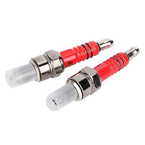 Terisass 2 pezzi candele A7TC A7TJC 3 elettrodo diametro 10mm filetto adatto per scooter quad ATV GY6 motore 50cc 125cc materiale in lega di alluminio